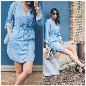 Lou & Grey Chambray Dress Sz XS